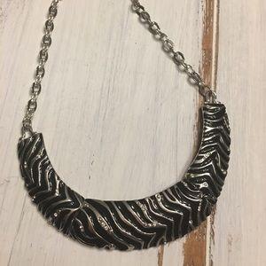 WHBM Zebra Print Necklace